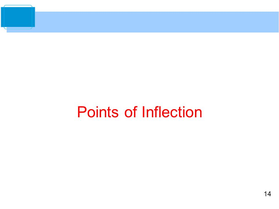 14 Points of Inflection