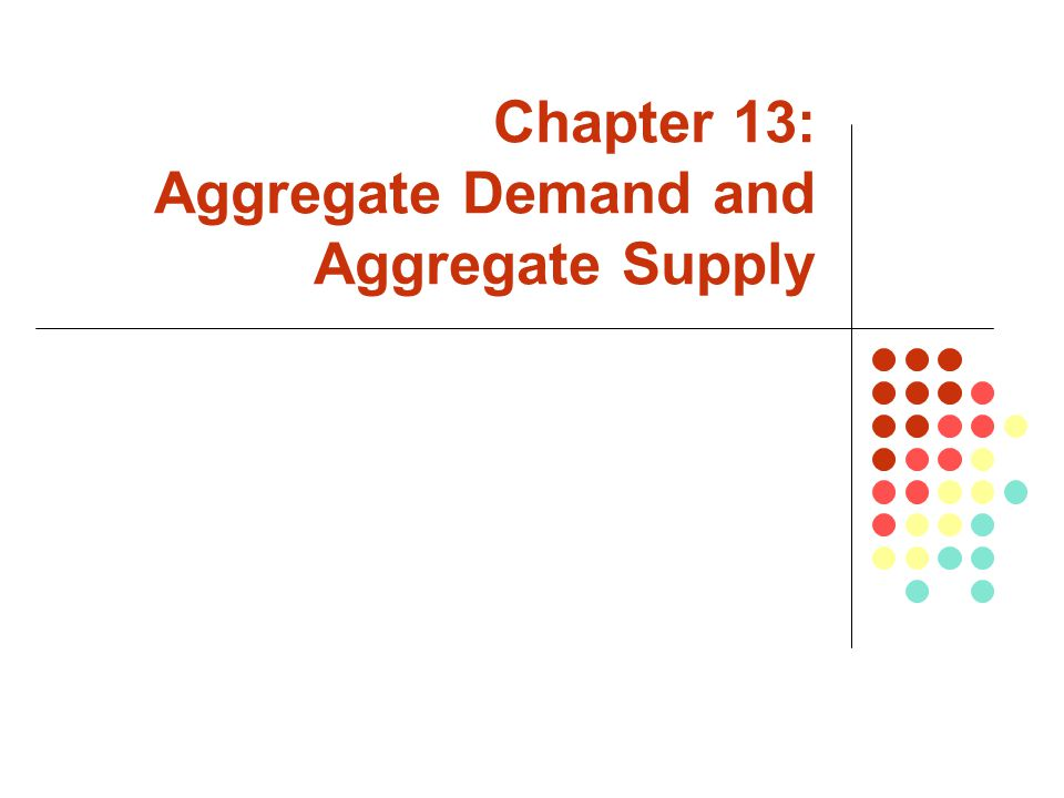 Chapter 13: Aggregate Demand and Aggregate Supply