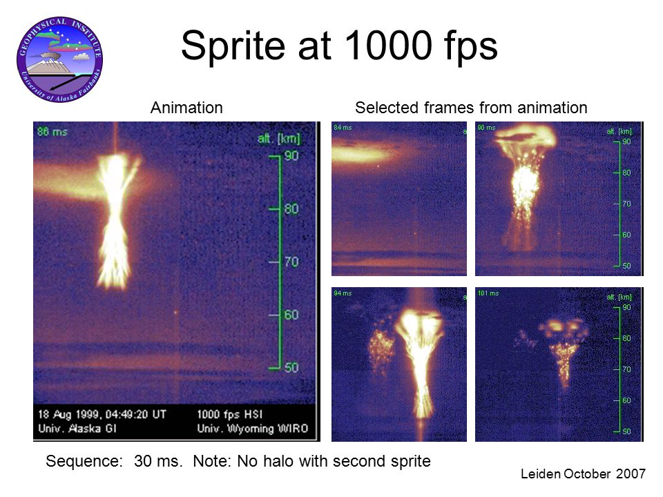 Leiden October 2007 Sprite at 1000 fps Sequence: 30 ms.