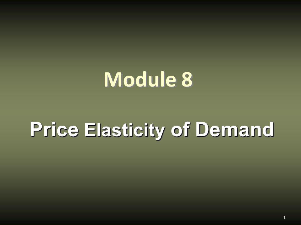 Module 8 Price Elasticity of Demand 1
