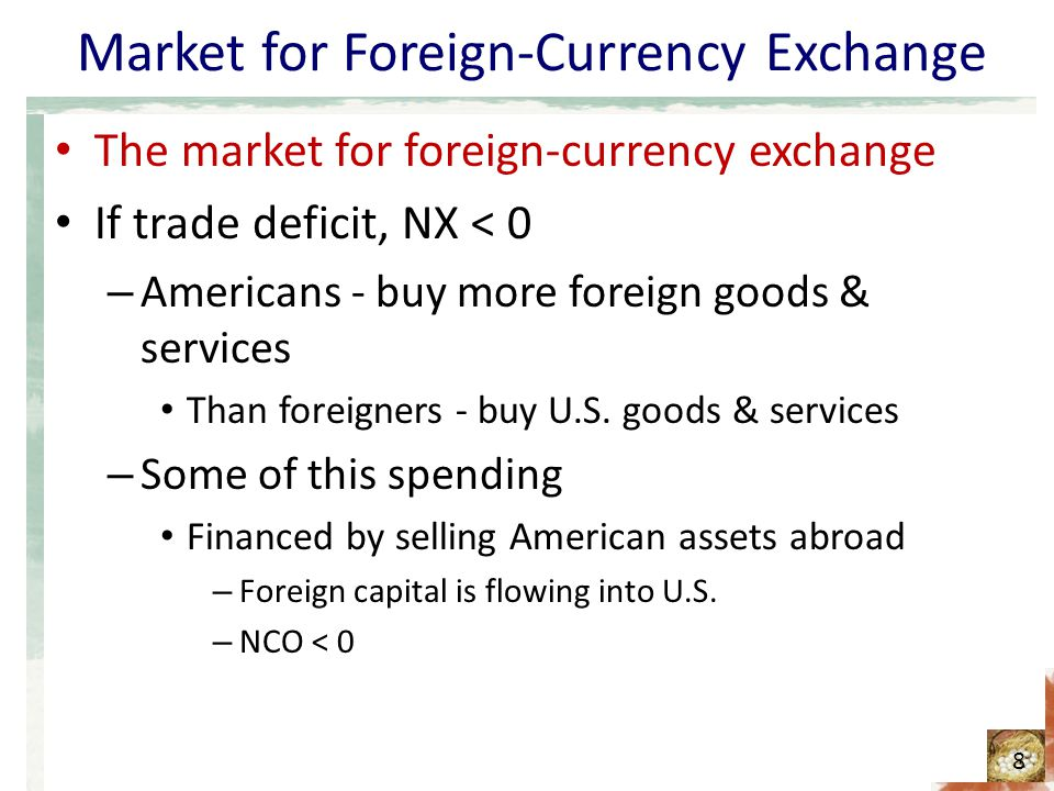 A nation's government – policy: – Encourages capital to flow to another country By making foreign investments itself – Effect.