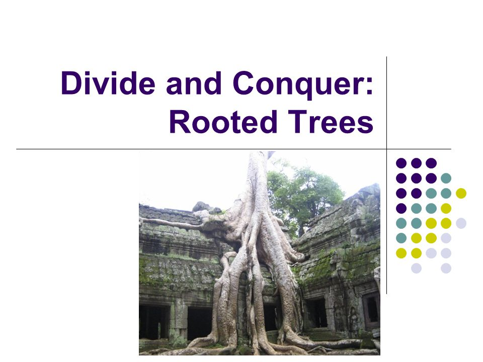 Divide and Conquer: Rooted Trees