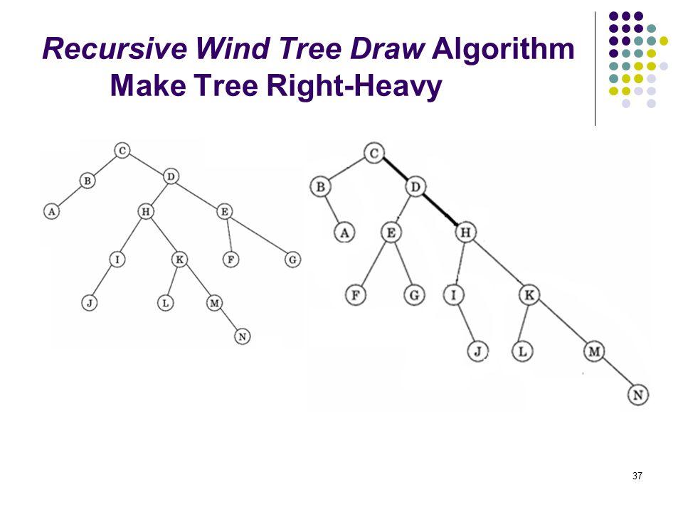 37 Recursive Wind Tree Draw Algorithm Make Tree Right-Heavy