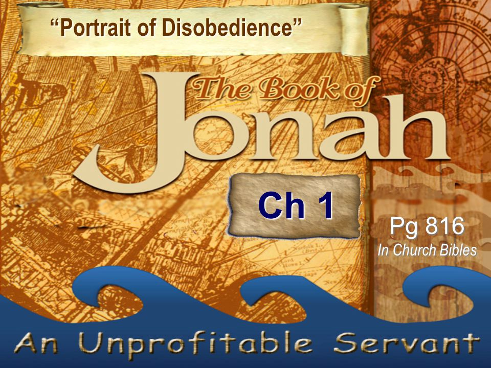"""Portrait of Disobedience"" ""Portrait of Disobedience"" Pg 816 In Church Bibles Ch 1"