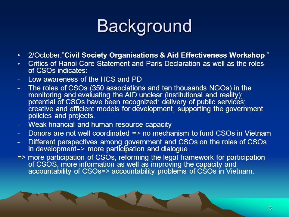 4 Why accountability problems of CSOs in Vietnam.