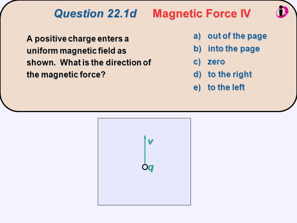 downward upward negatively chargedB field pointing out of the page Without a B field, the electrons feel an electric force downward.