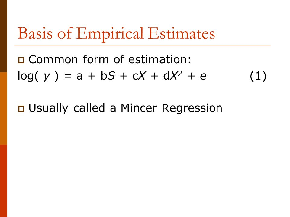 Take-Homes from the Static Model 1  The OLS estimator has two ability biases, the intercept the slope.