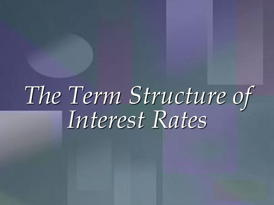 Expectations Theory Observed long-term rate is a function of today's short-term rate and expected future short-term rates.