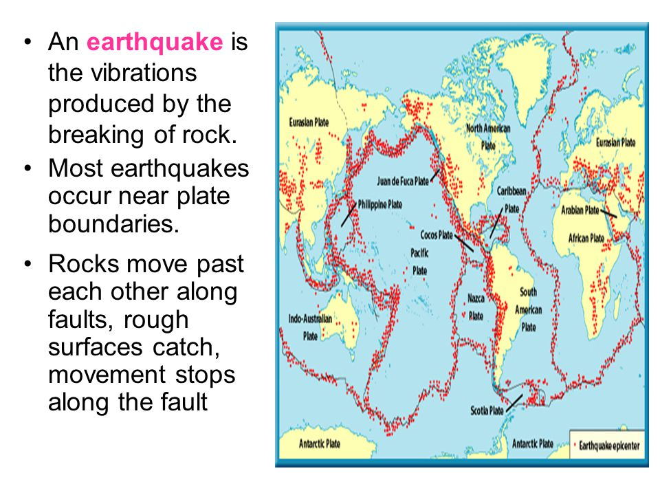 How Earthquakes Occur Stress causes the rocks to bend and change shape.