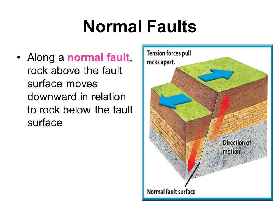 Reverse Faults Reverse faults result from compression forces that squeeze rock.