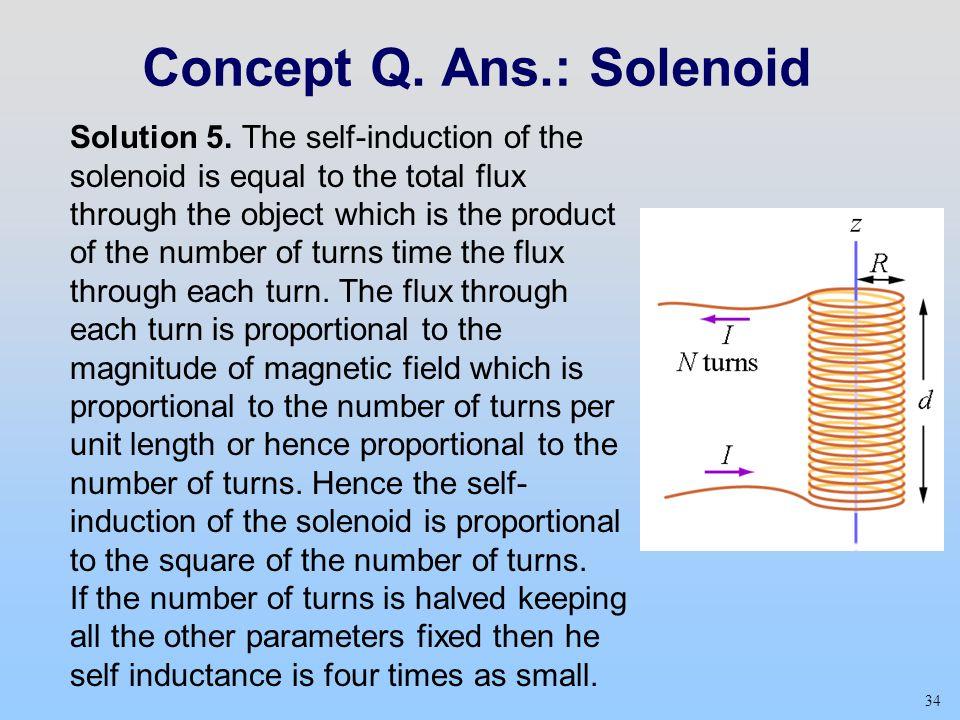 34 Concept Q.Ans.: Solenoid Solution 5.
