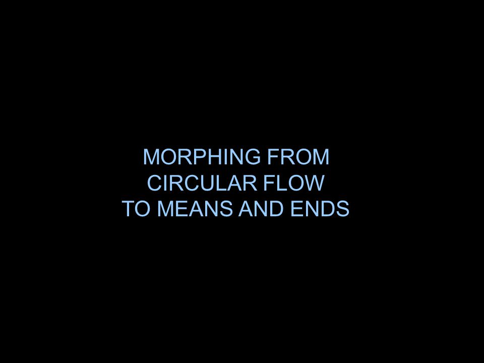 MORPHING FROM CIRCULAR FLOW TO MEANS AND ENDS