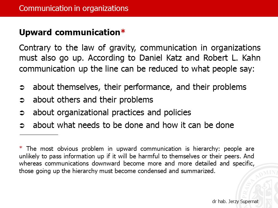 Communication in organizations dr hab.