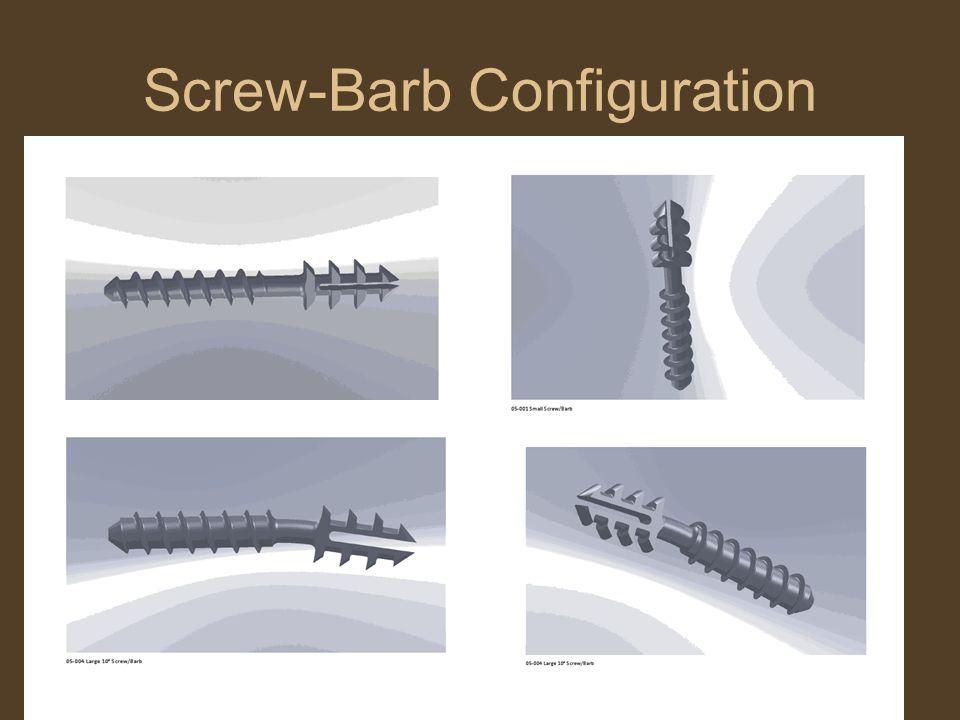 Screw-Barb Configuration