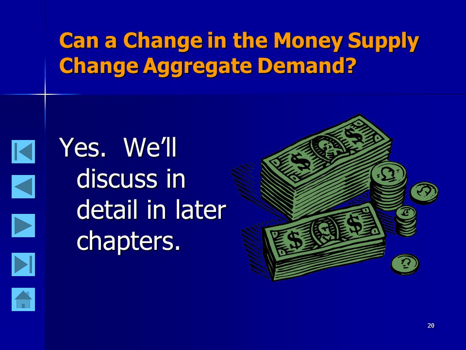 20 Can a Change in the Money Supply Change Aggregate Demand.