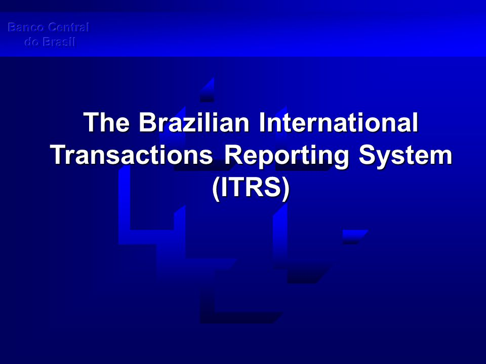 The Brazilian International Transactions Reporting System (ITRS)