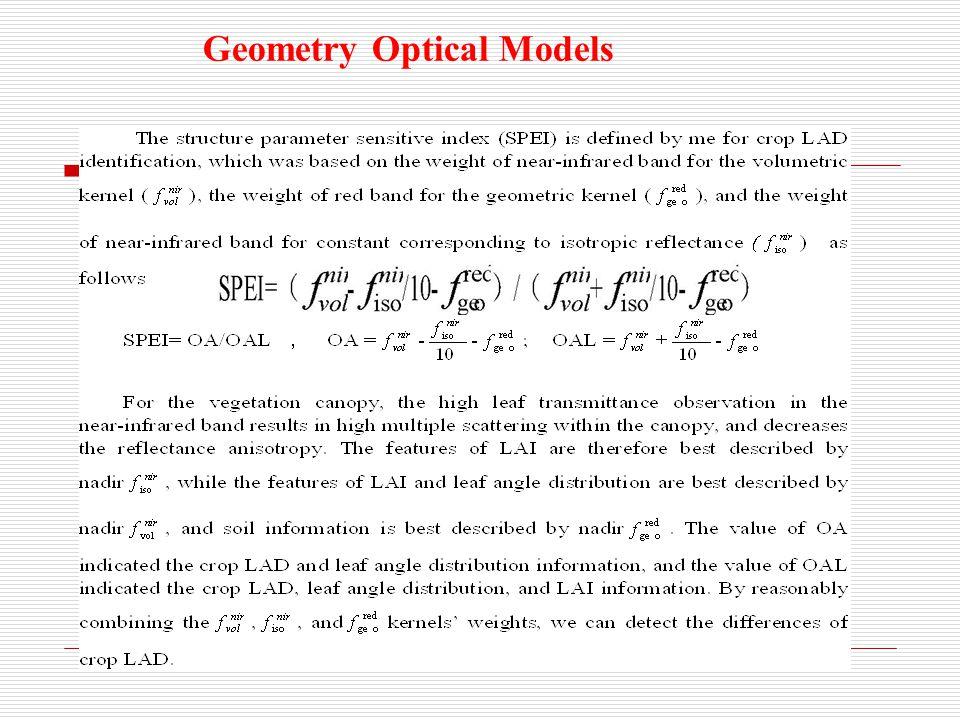 Geometry Optical Models