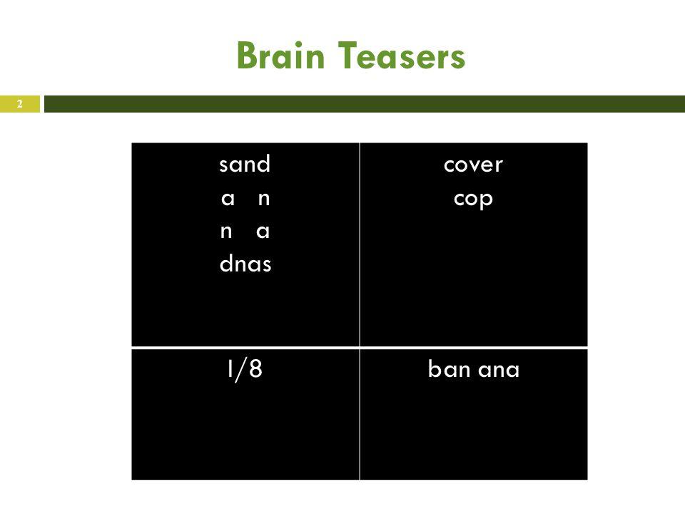 Brain Teasers sand a n n a dnas cover cop I/8ban ana 2