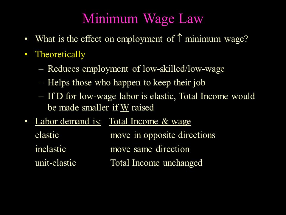 Minimum Wage Law Minimum wage is a prime example of a price floor.