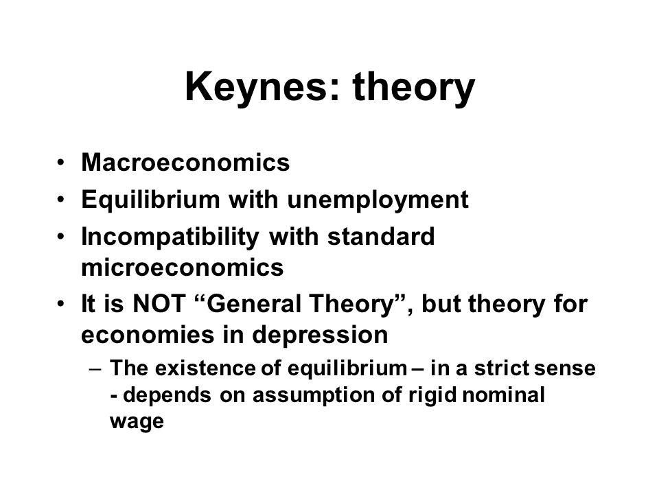 Keynes: AD and AS AD (for simplicity, still assume π e =0, i.e.
