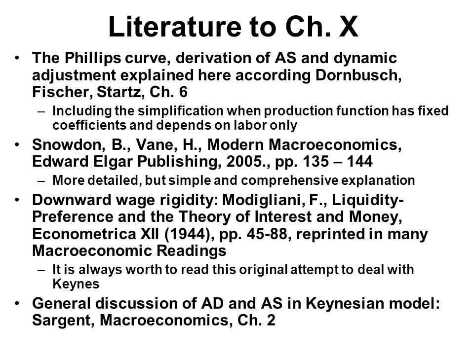 Literature to Ch.