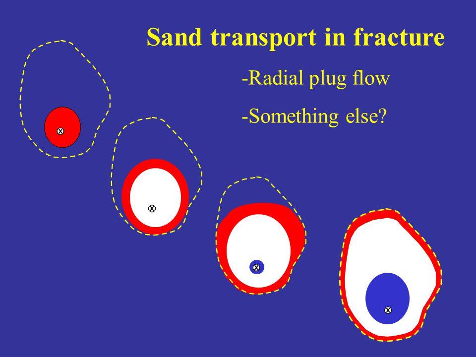 Sand transport in fracture -Radial plug flow -Something else