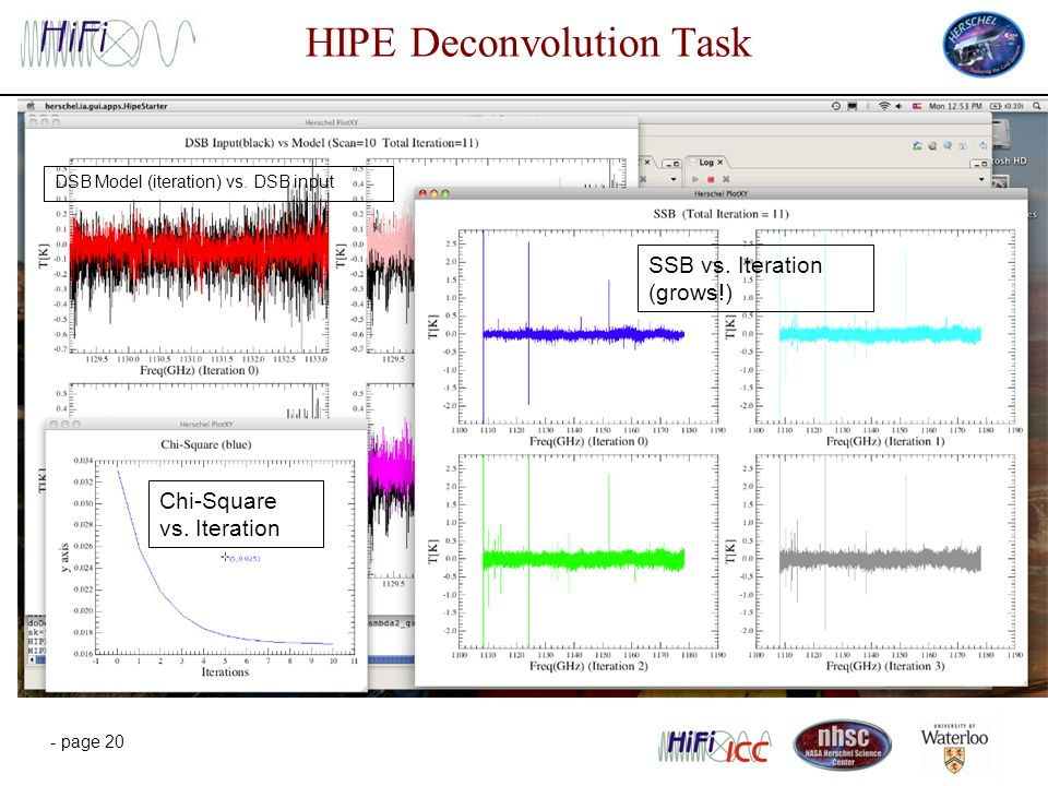 - page 20 HIPE Deconvolution Task DSB Model (iteration) vs.