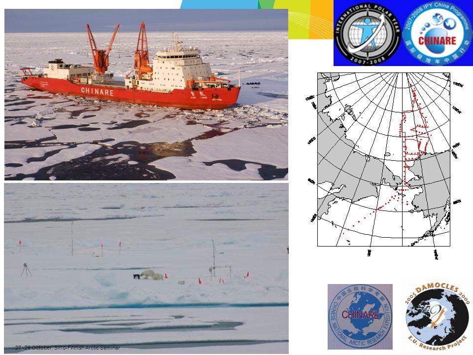 27 -28 October, Sino-Finnish Arctic Seminar