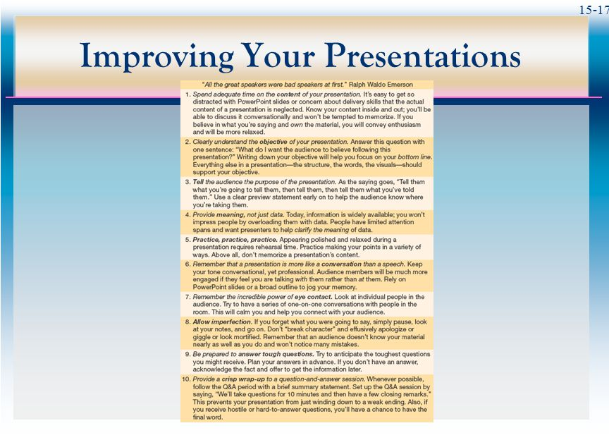 15-17 Improving Your Presentations