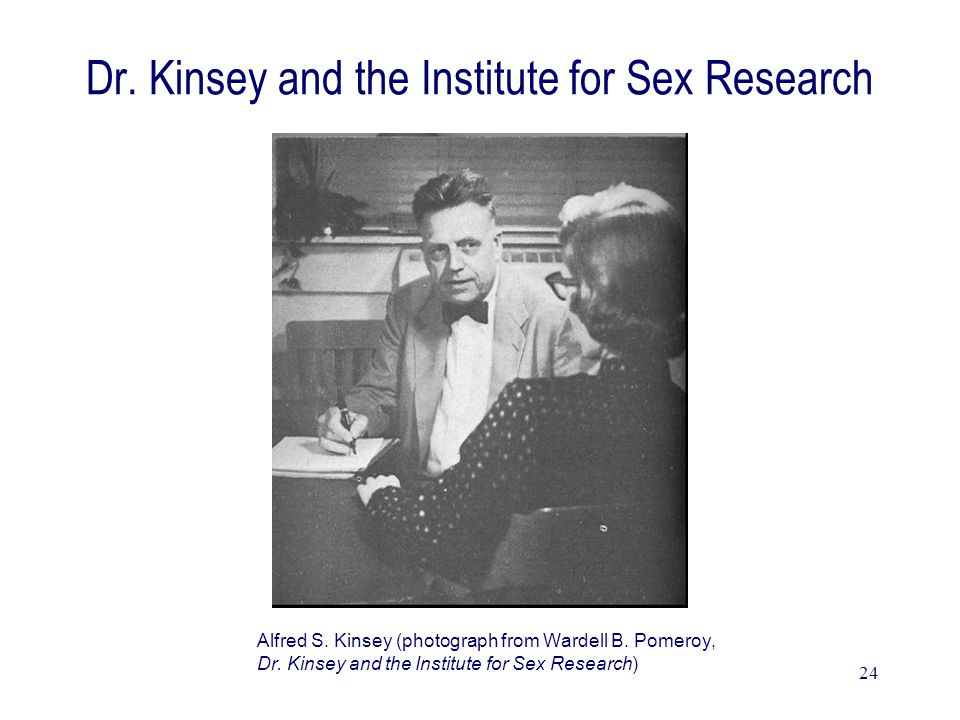 24 Dr. Kinsey and the Institute for Sex Research Alfred S.