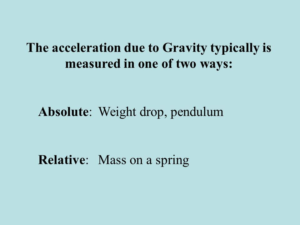 Pendulums The simple pendulum has a period related to its length: The problem is that this length is a virtual length to the center of mass of the system, which is not easy to determine accurately.
