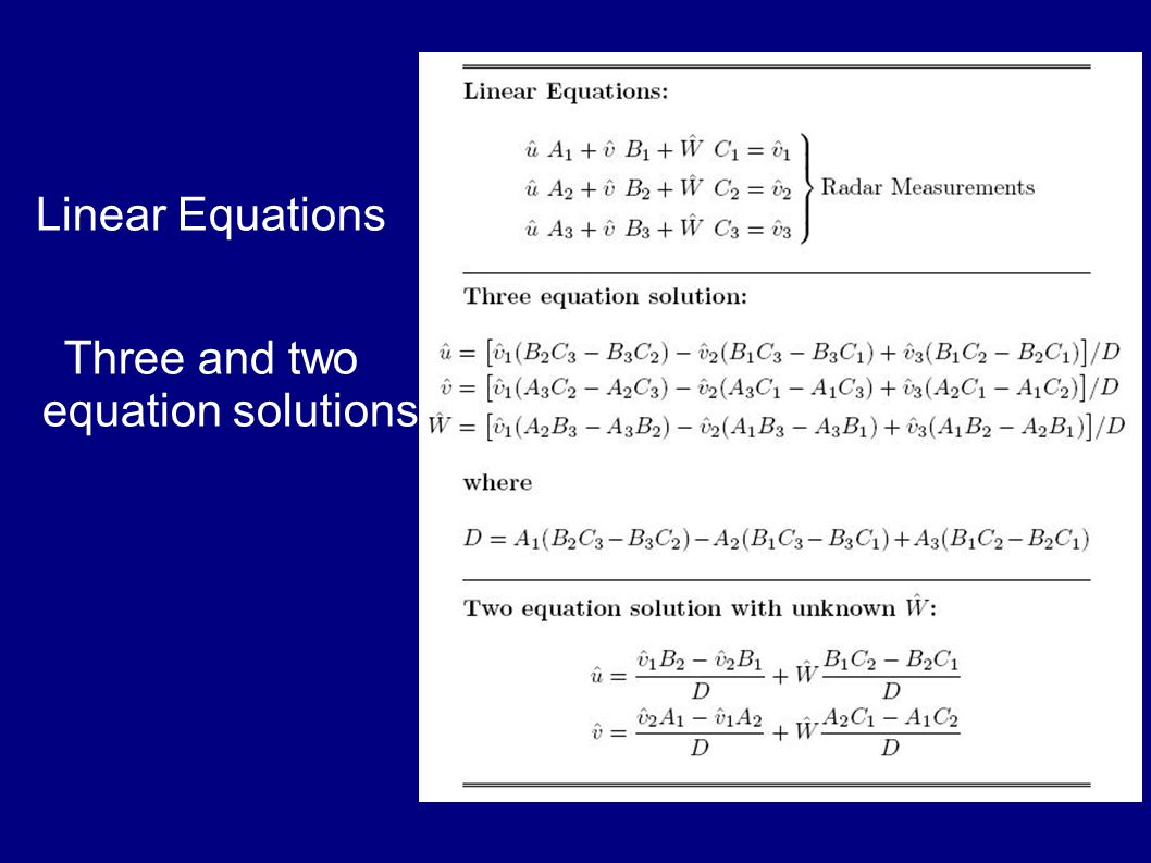 Linear Equations Three and two equation solutions