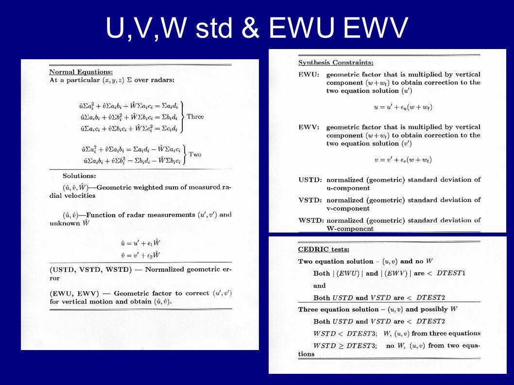 U,V,W std & EWU EWV