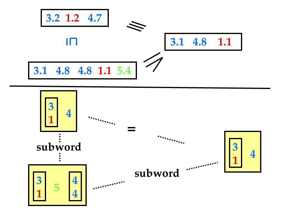 subword 4 3131 5 3131 4444 4 3131 = 3.2 1.2 4.7 3.1 4.8 4.8 1.1 5.4 3.1 4.8 1.1