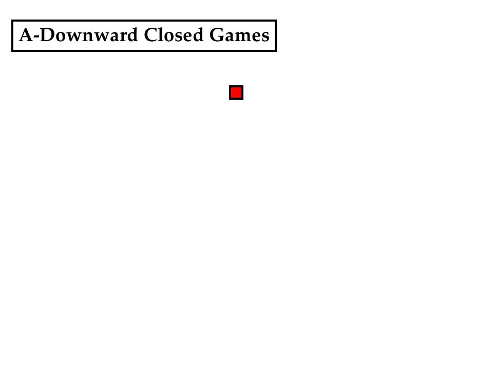 A-Downward Closed Games