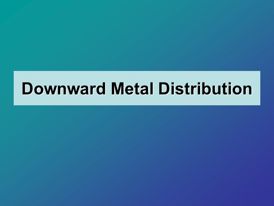 Downward Metal Distribution