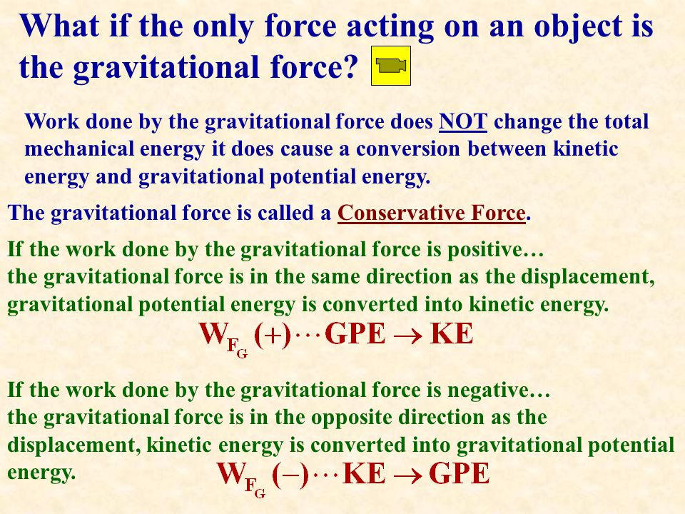 What if the only force acting on an object is the gravitational force.