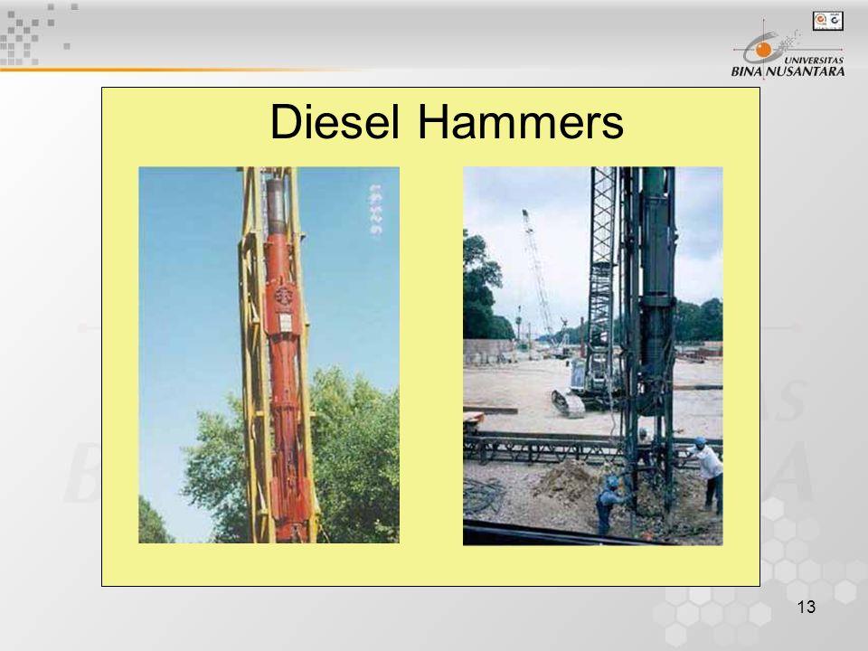 13 Diesel Hammers
