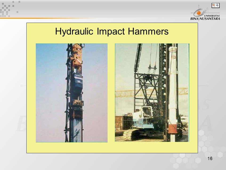 16 Hydraulic Impact Hammers