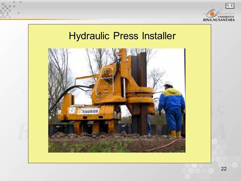 22 Hydraulic Press Installer
