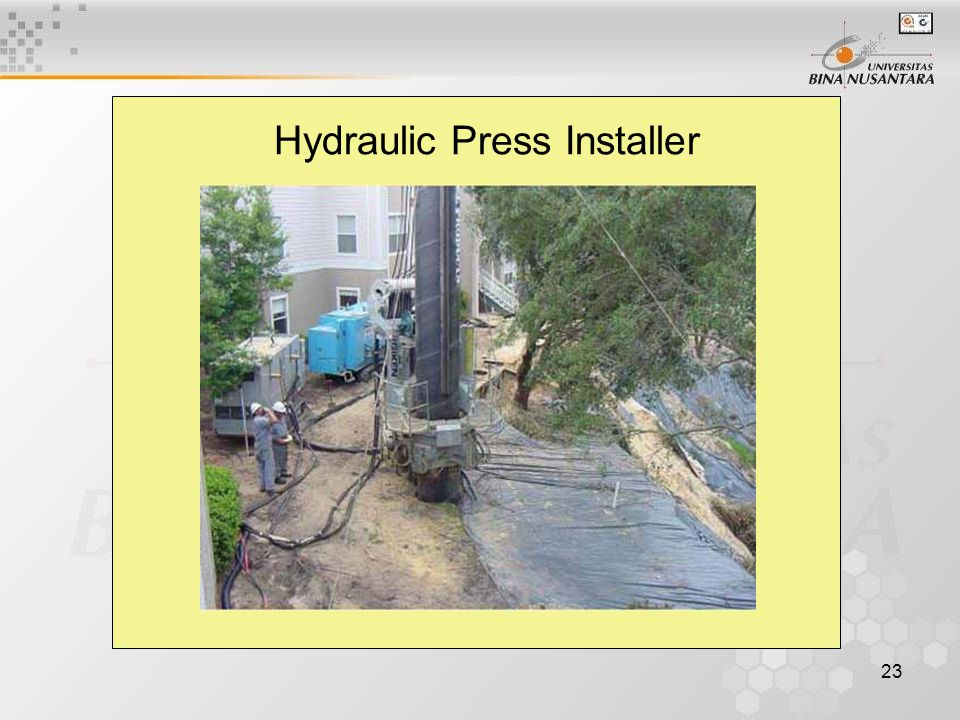 23 Hydraulic Press Installer