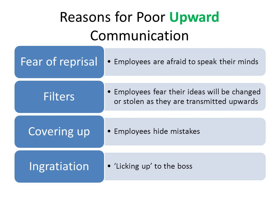 Reasons for Poor Upward Communication
