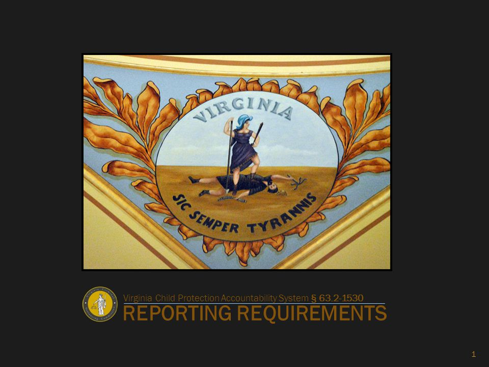 REPORTING REQUIREMENTS 1 Virginia Child Protection Accountability System § 63.2-1530
