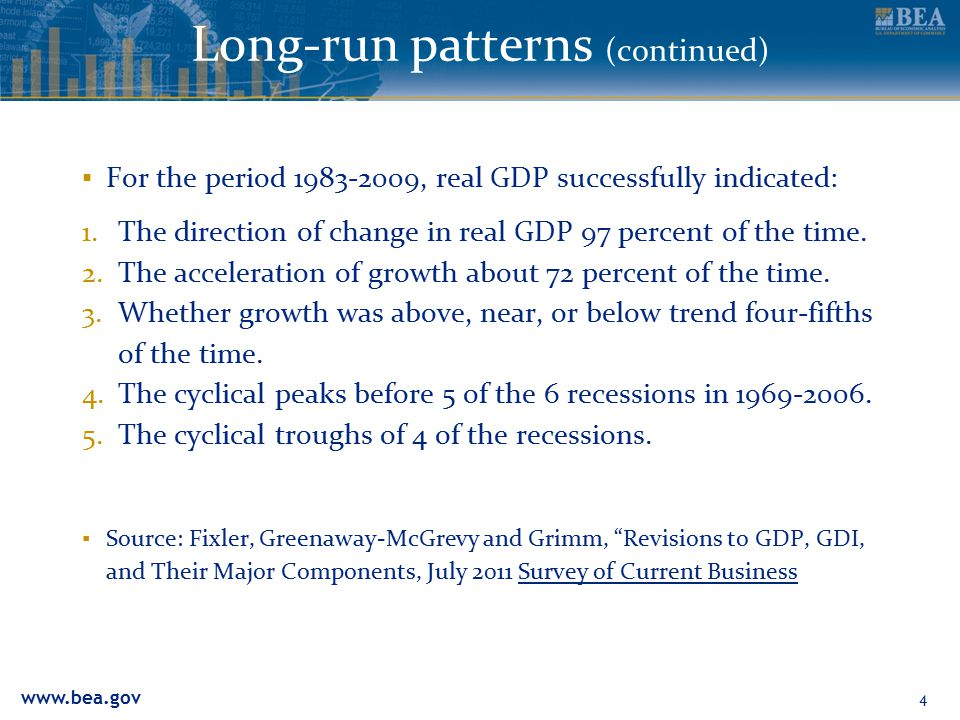 www.bea.gov Long-run patterns (continued) 5