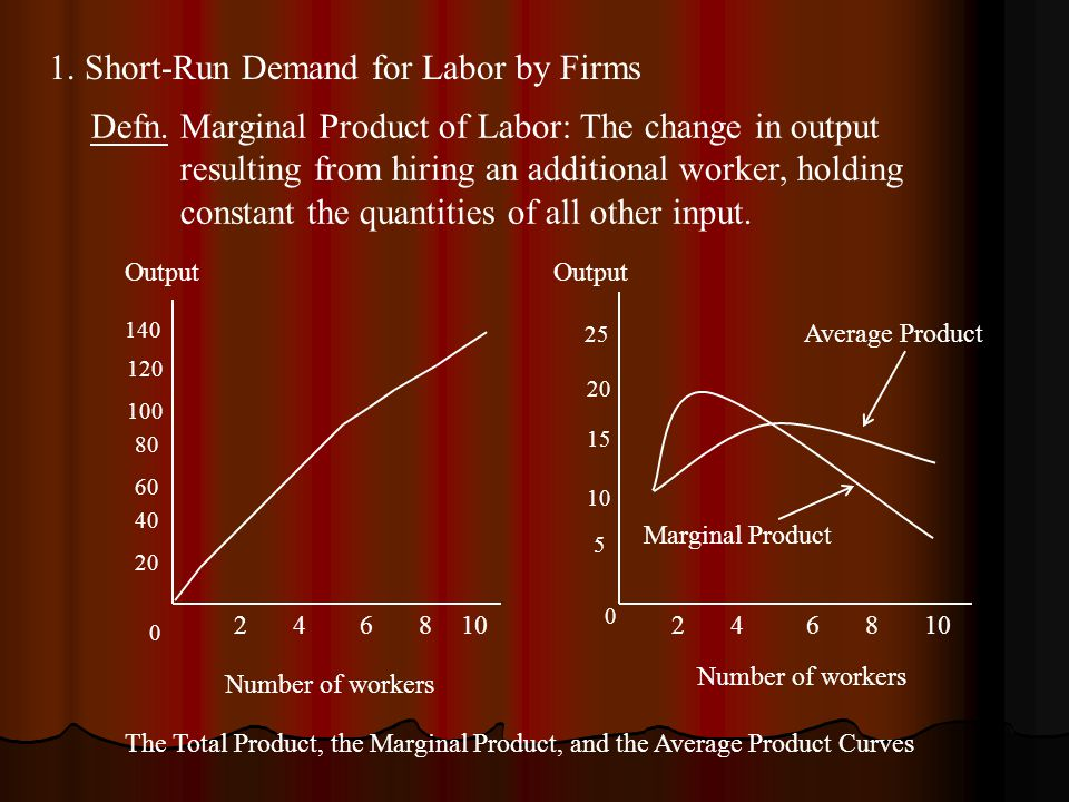 1. Short-Run Demand for Labor by Firms Defn.