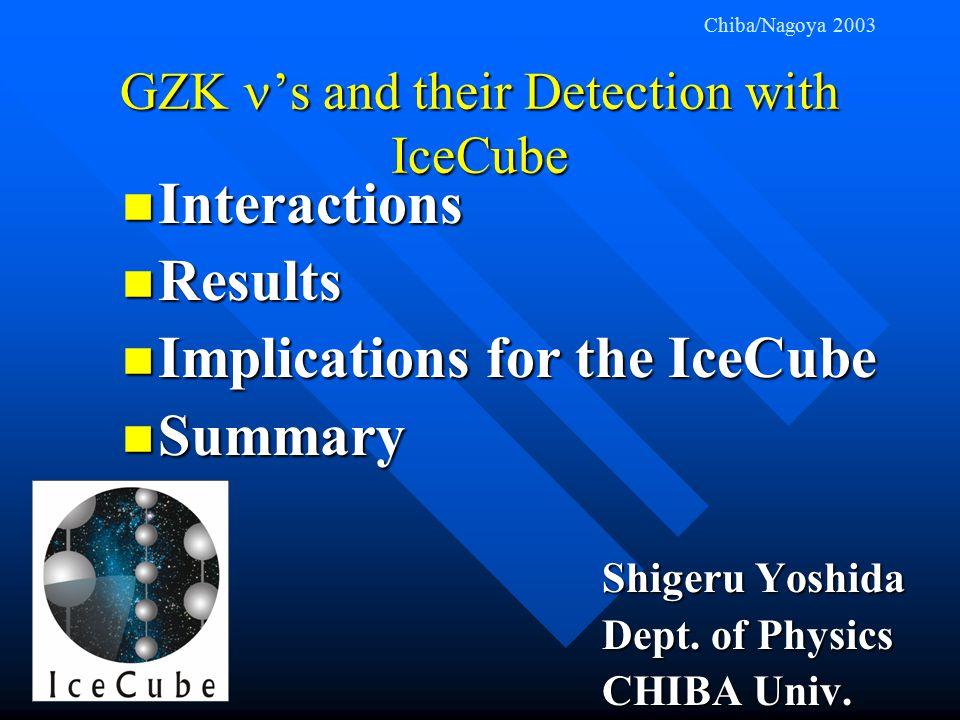 GZK Neutrino Production 2.725 K 411 photons / cm 3 0.6 x 10 -27 cm 2 γ p n p π + μ + ν e + ν γ E = 10 20 eV E 0.8 x 10 20 eV ~ Conventional Mechanism of EHE neutrinos!!