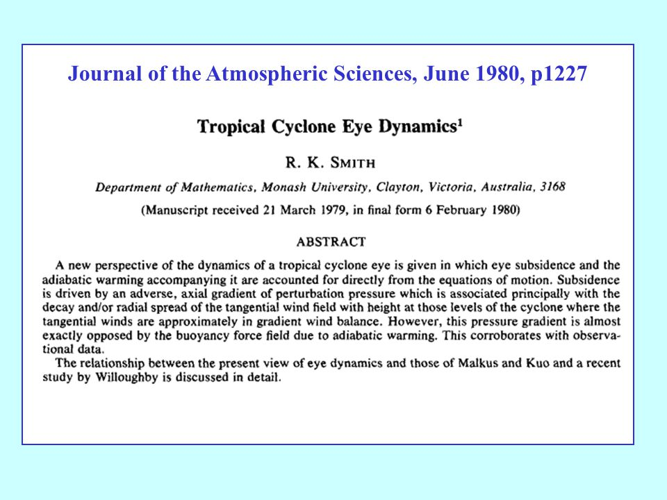 Journal of the Atmospheric Sciences, June 1980, p1227