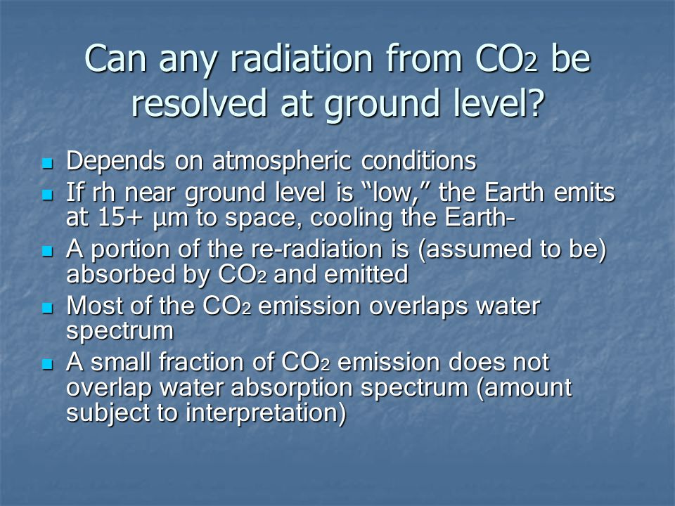 Can any radiation from CO 2 be resolved at ground level.