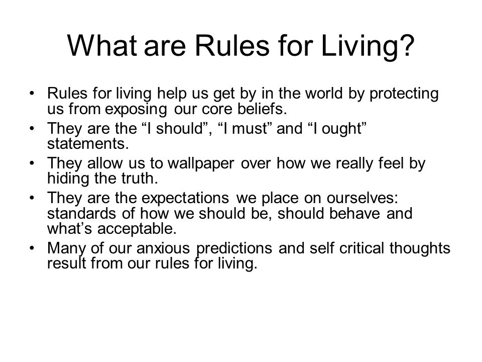 What are Rules for Living.