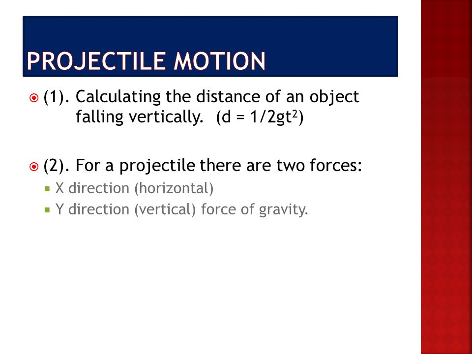  (1). Calculating the distance of an object falling vertically.